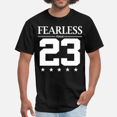 Number 23 Fearless Psalm 23 - Men's T-Shirt