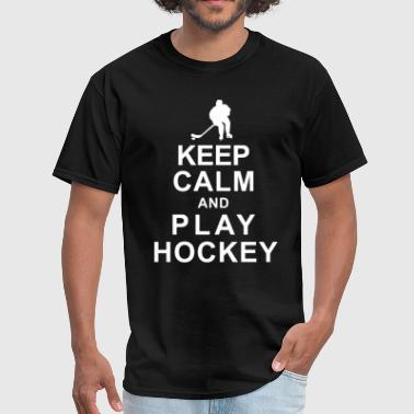 KEEP CLAM and PLAY HOCKEY - Men's T-Shirt