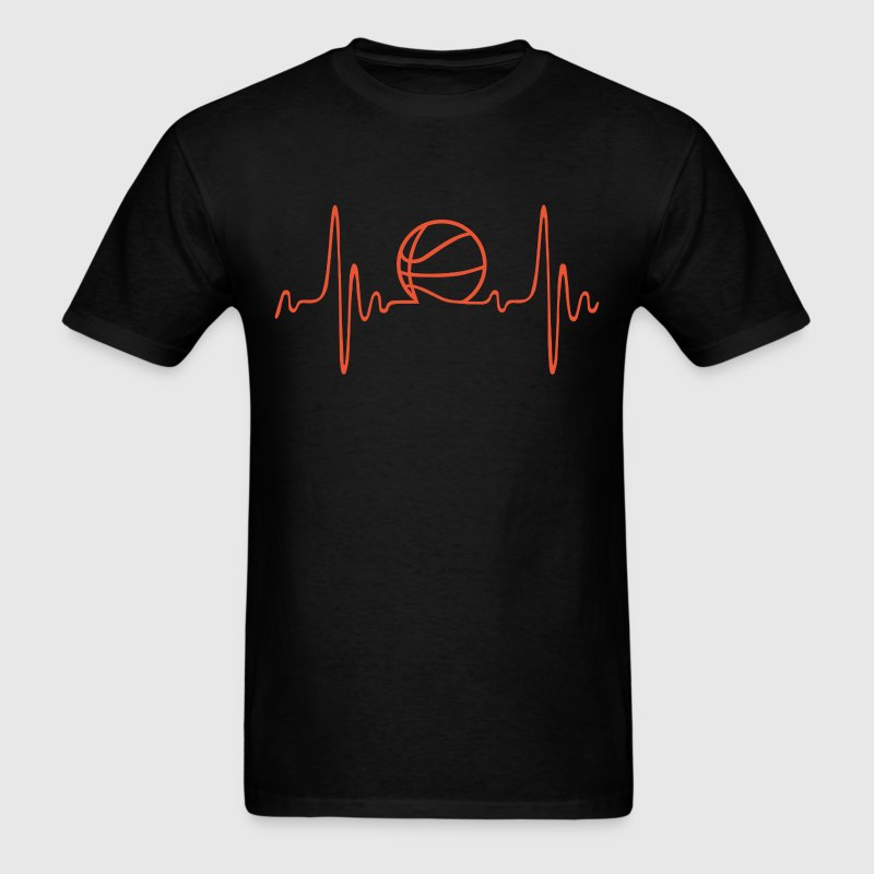 (basketball) - heartbeat - Men's T-Shirt