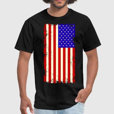 Distressed USA Flag - Men's T-Shirt