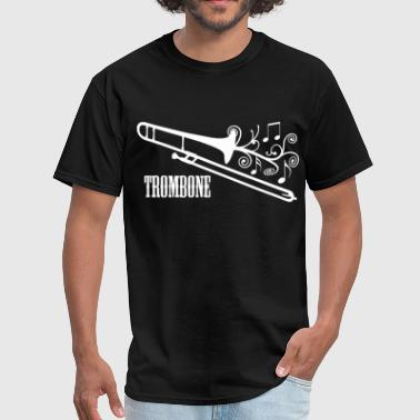 Instrument Trombone with Swirls - Men's T-Shirt