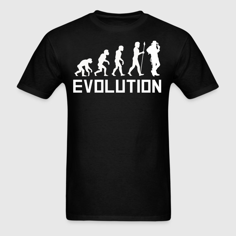 Cowboy Evolution Funny Wild West Shirt - Men's T-Shirt