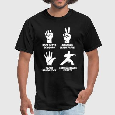 Karate Rock Paper Nothing Beats - Men's T-Shirt