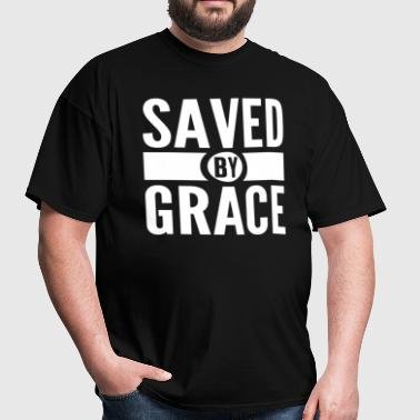 Saved by Grace Bible Scripture Verse Christian  - Men's T-Shirt