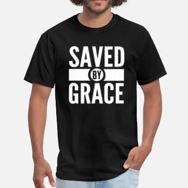 Short Bible Verses Saved by Grace Bible Scripture Verse Christian  - Men's T-Shirt