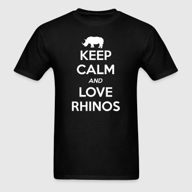 Rhino Keep Calm and Love - Men's T-Shirt