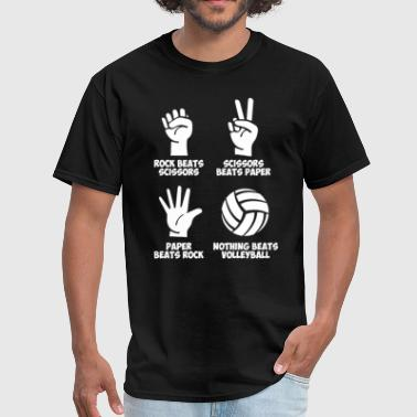 Volleyball Rock Paper Nothing Beats - Men's T-Shirt