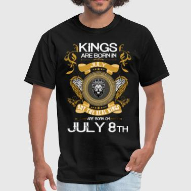 8th Birthday Kings Are Born In July 8th - Men's T-Shirt