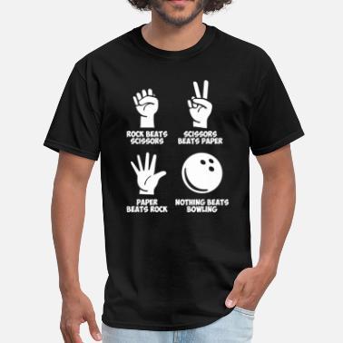 cedee78d Bowling Rock Paper Nothing Beats - Men's T-Shirt