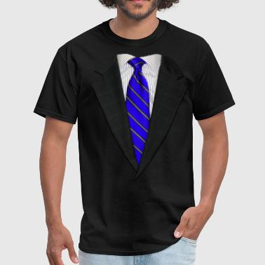 Suit and Neck Tie Real Blue - Men's T-Shirt
