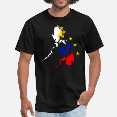 Philippines Map of Philippines with 3 Stars and Sun T Shirt - Men's T-Shirt