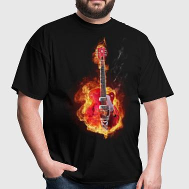 Guitar on fire - Men's T-Shirt