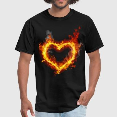 Flames heart in flames - Men's T-Shirt