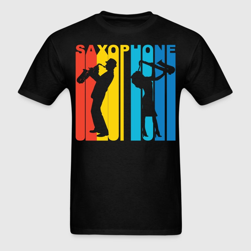 Saxophone Player Silhouette Music T-Shirt - Men's T-Shirt