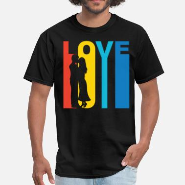 Graphic T Couples Couple Kissing Silhouette Love T-Shirt - Men's T-Shirt