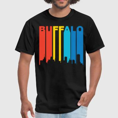 Retro Buffalo New York Skyline T-Shirt - Men's T-Shirt