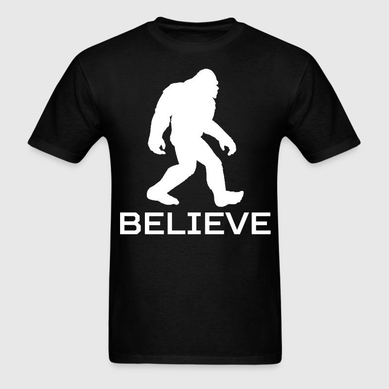 Believe Classic Bigfoot Sasquatch T-Shirt - Men's T-Shirt
