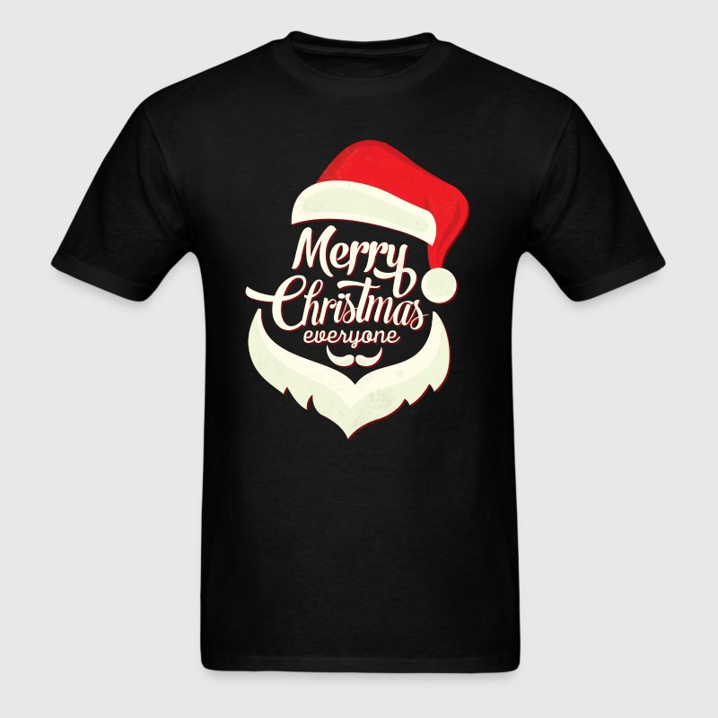 Merry Christmas Everyone Santa Beard - Men's T-Shirt