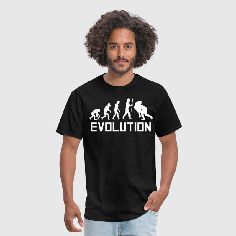 Rugby Tackle Evolution Funny Rugby Shirt - Men's T-Shirt