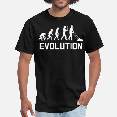 Lawn Mower Mowing The Lawn Evolution Funny Lawn Mower Shirt - Men's T-Shirt