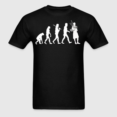 Bagpiper Evolution Funny Bagpipes Music - Men's T-Shirt