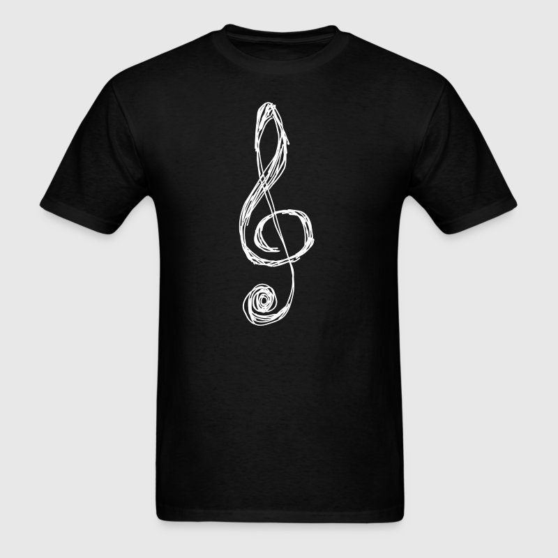 Treble Clef Sketch Cool Music - Men's T-Shirt
