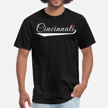 Cincinnati Love Fancy Heart City Logo - Men's T-Shirt