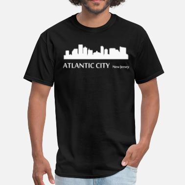 Atlantic Atlantic City New Jersey Downtown Skyline - Men's T-Shirt