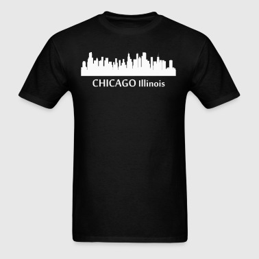 Chicago Illinois Downtown Skyline Silhouette - Men's T-Shirt