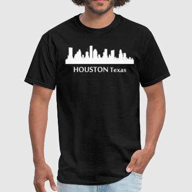 Houston Texas Downtown Skyline Silhouette - Men's T-Shirt