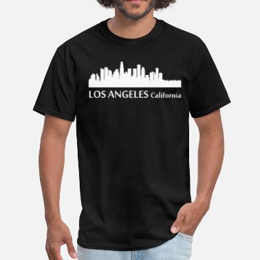 Downtown Los Angeles Los Angeles California Downtown Skyline - Men's T-Shirt