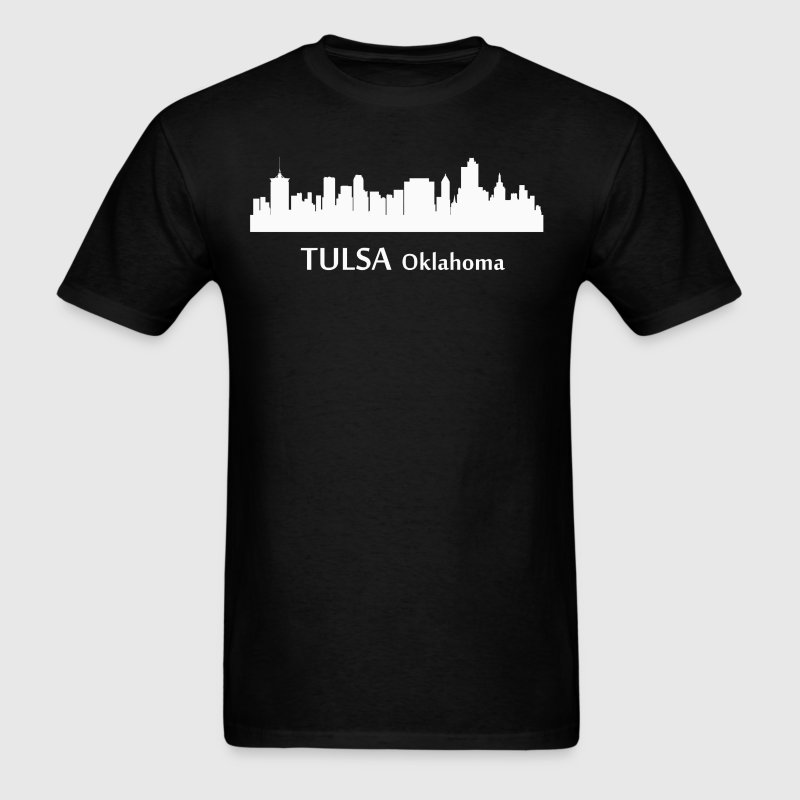 Tulsa Oklahoma Downtown Skyline Silhouette - Men's T-Shirt