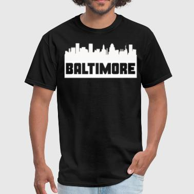 Baltimore Maryland Skyline Silhouette - Men's T-Shirt