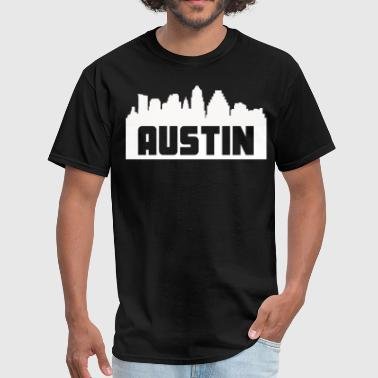 Austin Texas Skyline Silhouette - Men's T-Shirt