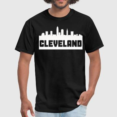 Cleveland Ohio Skyline Silhouette - Men's T-Shirt