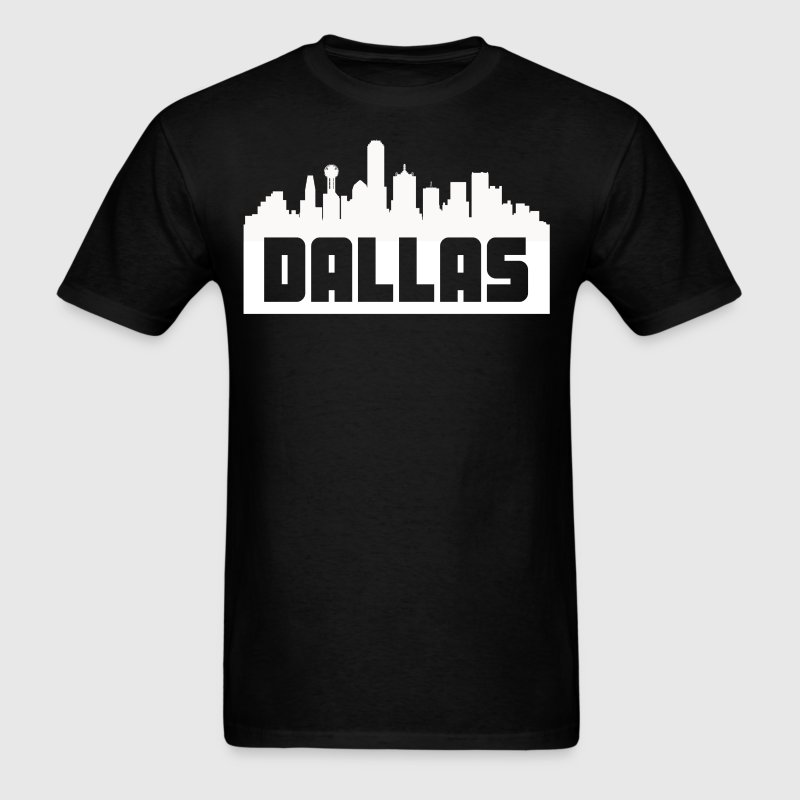 Dallas Texas Skyline Silhouette - Men's T-Shirt