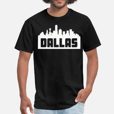 Dallas Dallas Texas Skyline Silhouette - Men's T-Shirt