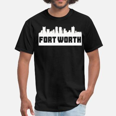 Fort Fort Worth Texas Skyline Silhouette - Men's T-Shirt
