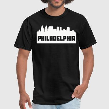Philadelphia Pennsylvania Skyline Silhouette - Men's T-Shirt