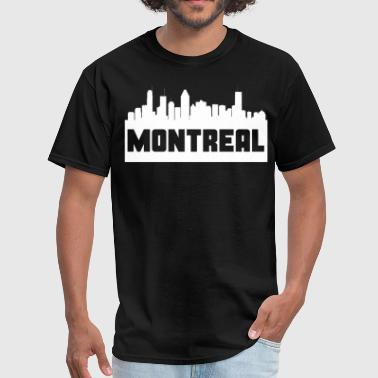Montreal Quebec Skyline Silhouette - Men's T-Shirt