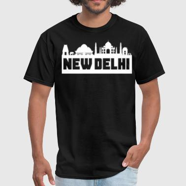 New-delhi New Delhi India Skyline Silhouette - Men's T-Shirt