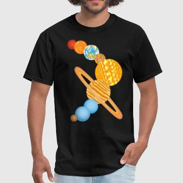 Nine Planets Of The Solar System Space Science - Men's T-Shirt