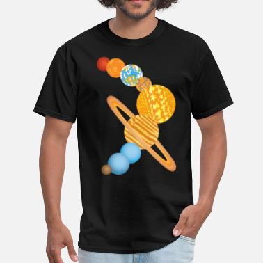 Uranus Nine Planets Of The Solar System Space Science - Men's T-Shirt