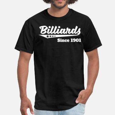 1901 Billiards Since 1901 Retro Logo - Men's T-Shirt