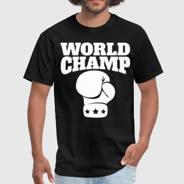 Retro World Champ Boxing Glove - Men's T-Shirt