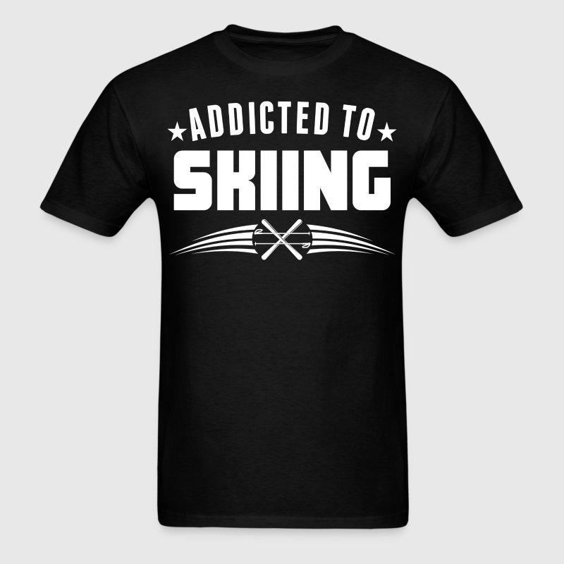 Addicted To Skiing Funny Skier - Men's T-Shirt