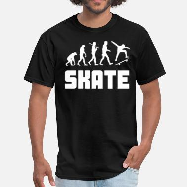 Skateboarding Evolution Skateboarder Evolution Funny Skateboarding - Men's T-Shirt
