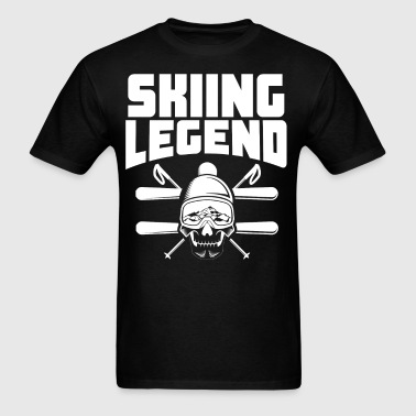 Skiing Legend Skier Skull - Men's T-Shirt
