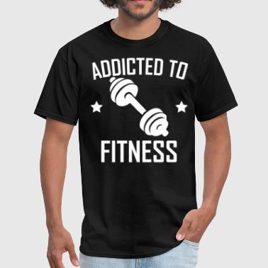 Addicted To Fitness Dumbbell Training - Men's T-Shirt