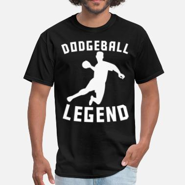 Dodgeball Legend Dodgeball Legend Dodgeball Player Silhouette - Men's T-Shirt